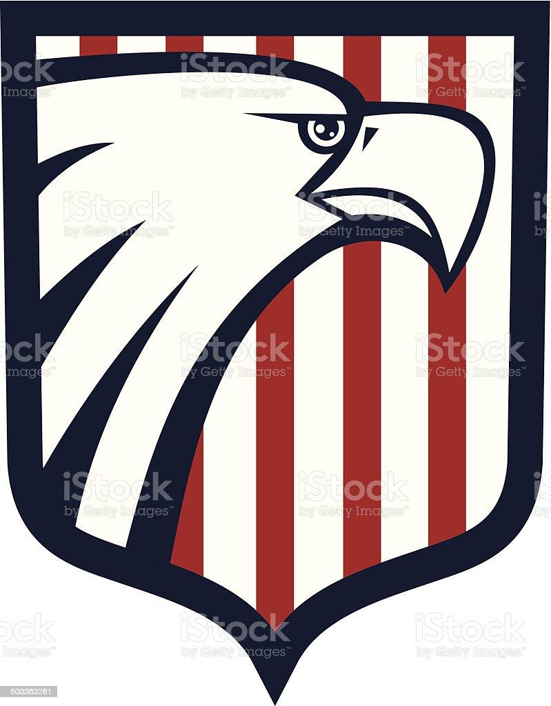 Eagle shield icon vector art illustration