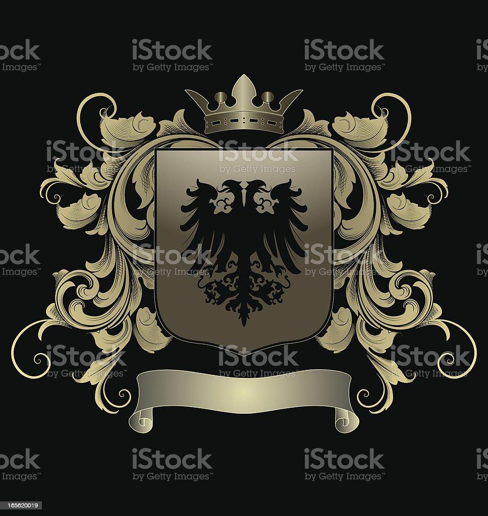 Eagle Shield royalty-free stock vector art