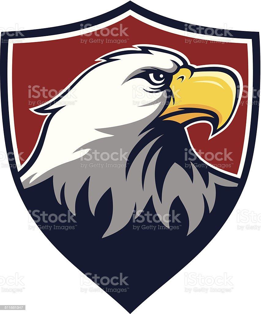 Eagle Shield vector art illustration