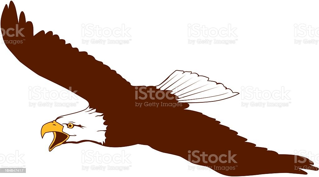 Eagle Soars royalty-free stock vector art