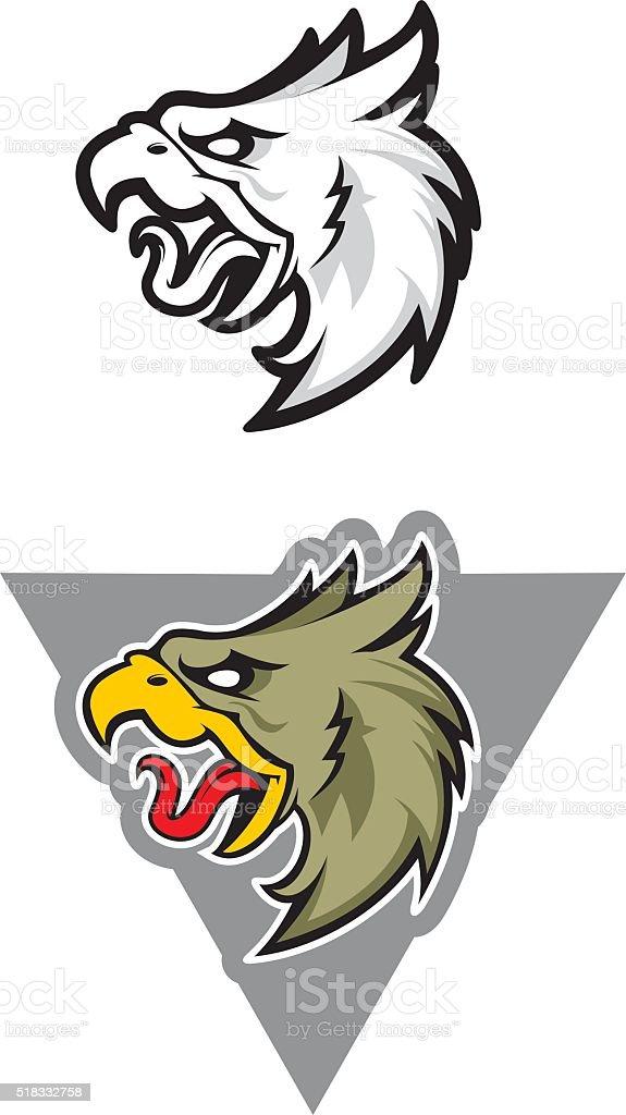 Eagle sport mascot vector art illustration