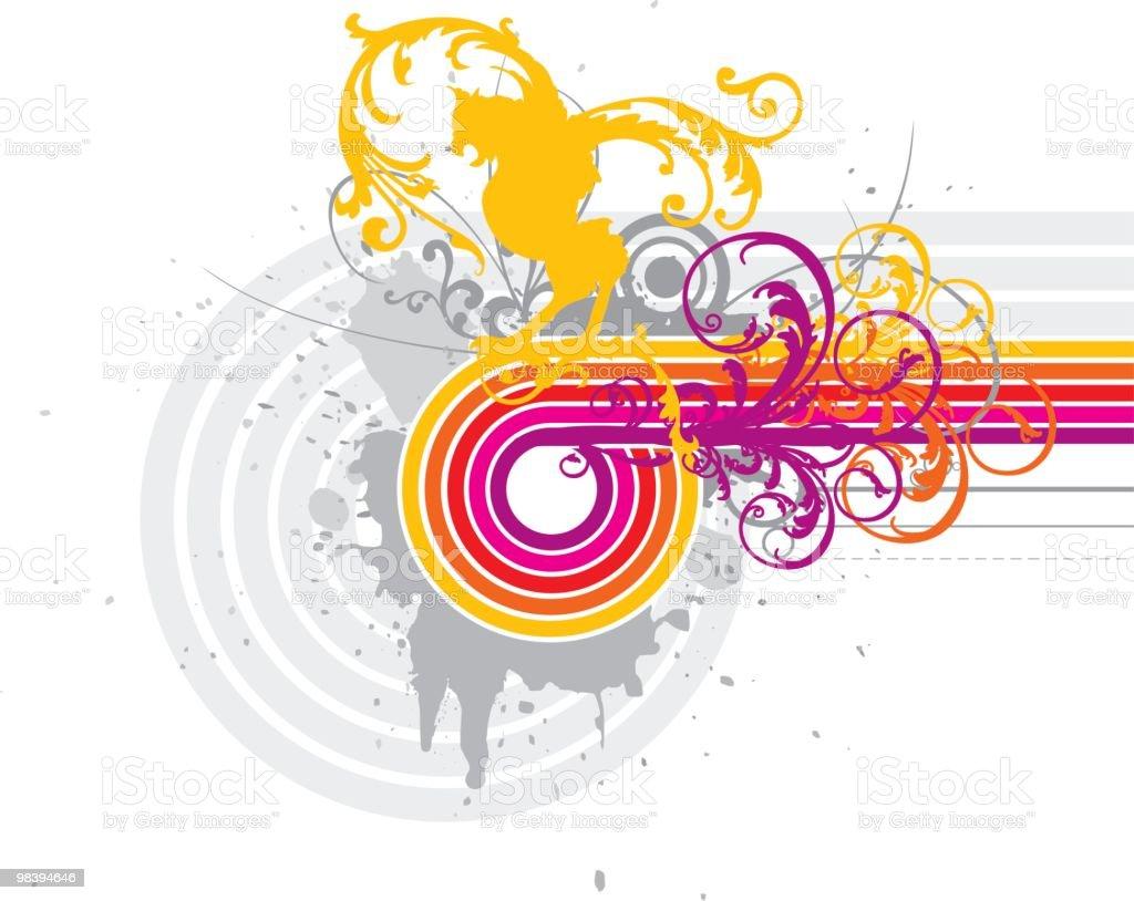 Eagle Sun royalty-free stock vector art