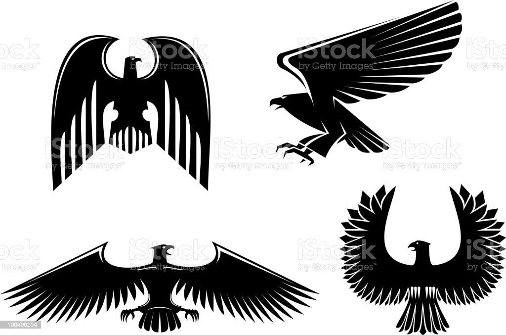 Eagle symbols royalty-free stock vector art