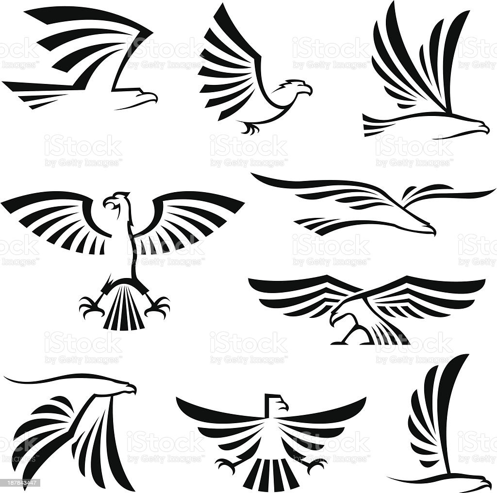eagle symbols royalty-free stock vector art