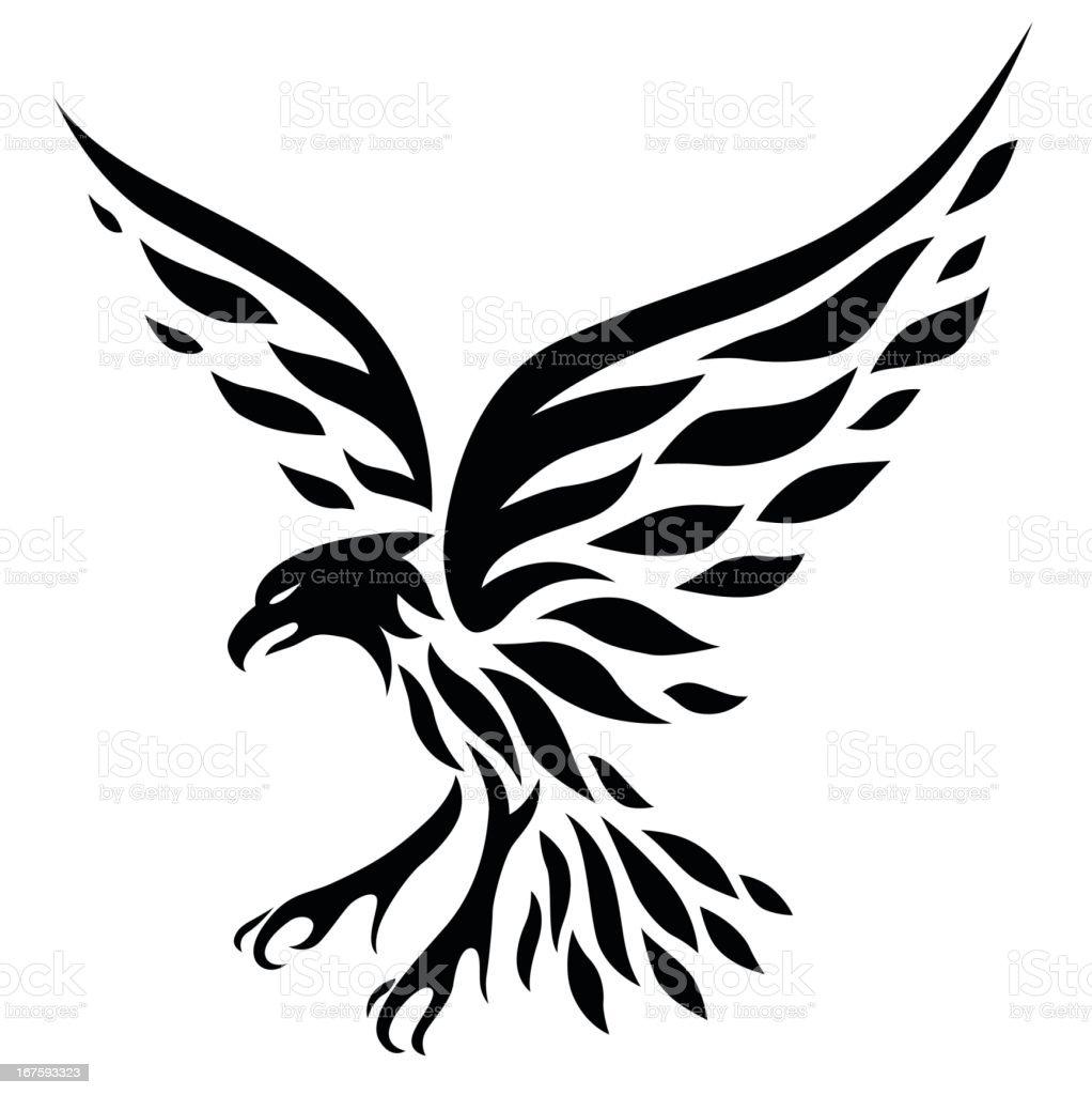 Eagle Tattoo vector art illustration