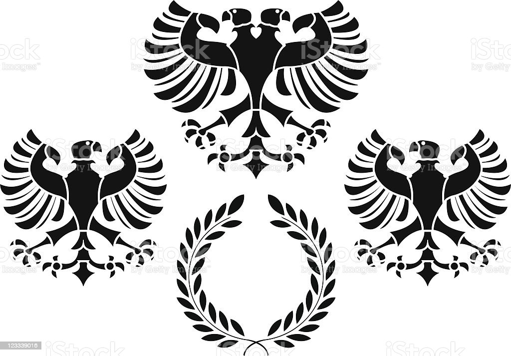 eagles and wreath royalty-free stock vector art