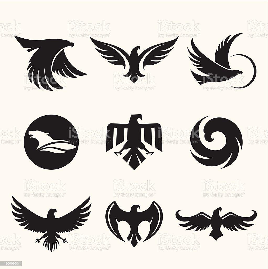 Eagles design vector art illustration