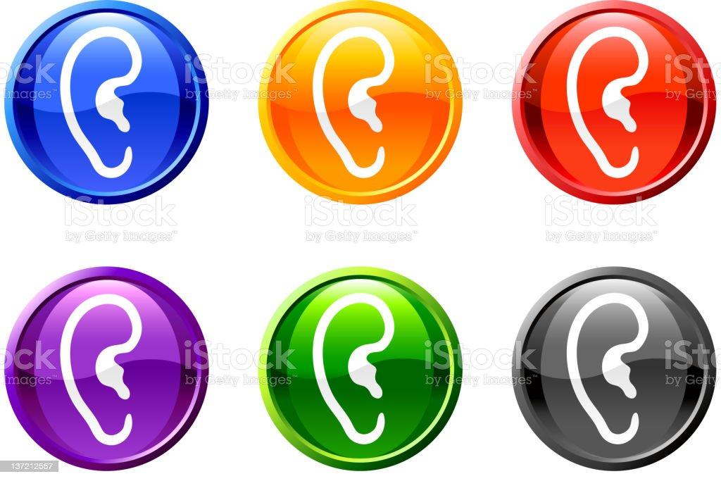 Ear button royalty free vector art royalty-free stock vector art