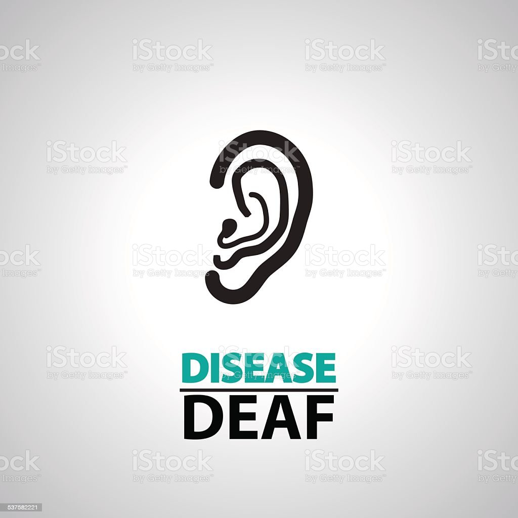 ear deaf icons and symbol vector art illustration