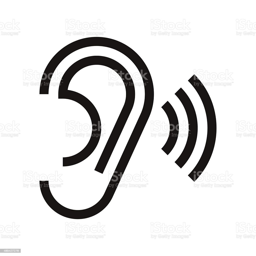 Ear icon vector art illustration
