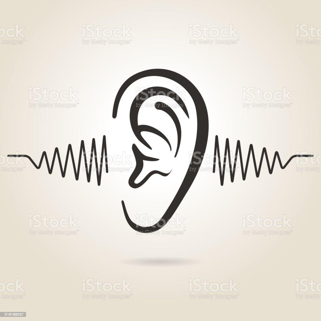 ear icon vector art illustration