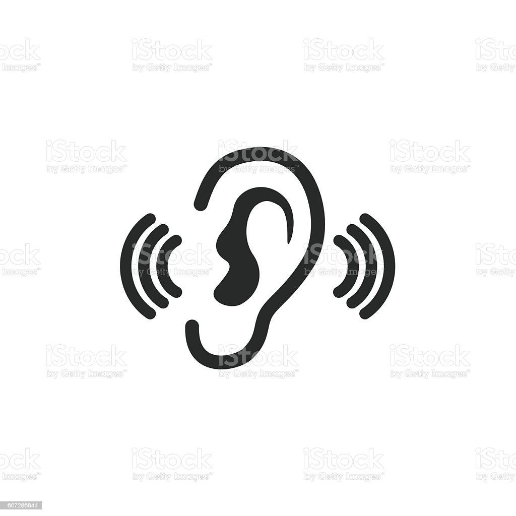 Ear   icon. vector art illustration