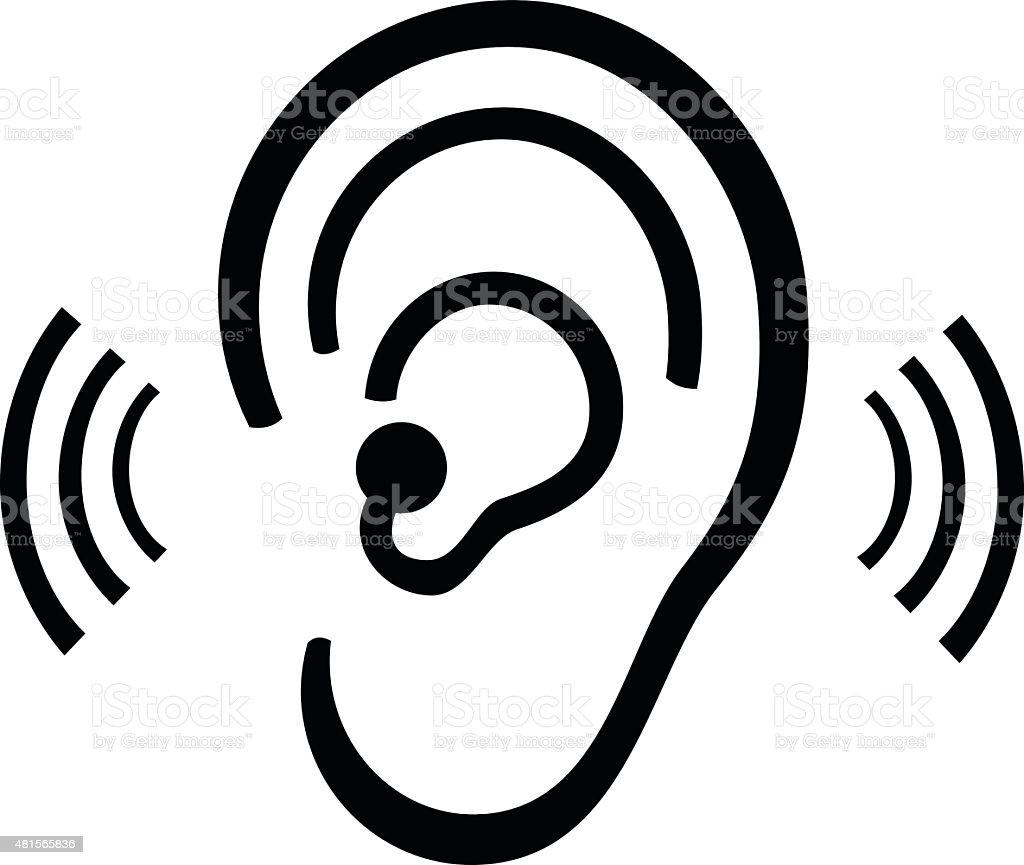Ear symbol vector art illustration