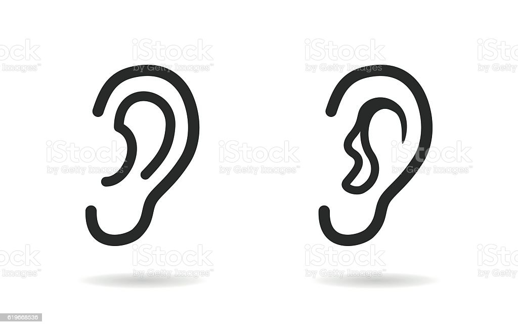 Ear  - vector icon. vector art illustration