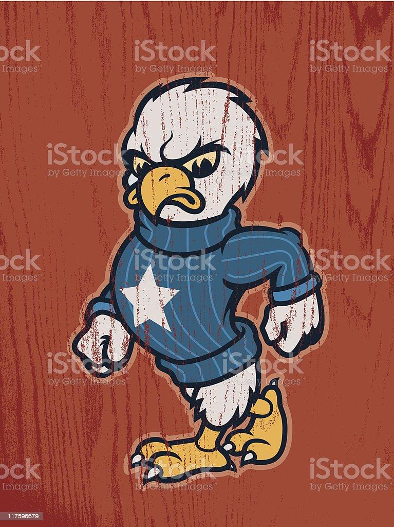 Earl the Eagle royalty-free stock vector art