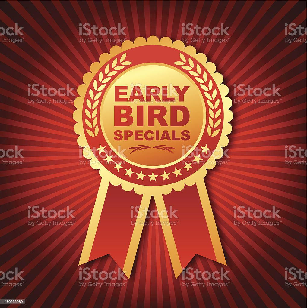 Early Bird Specials Emblem royalty-free stock vector art