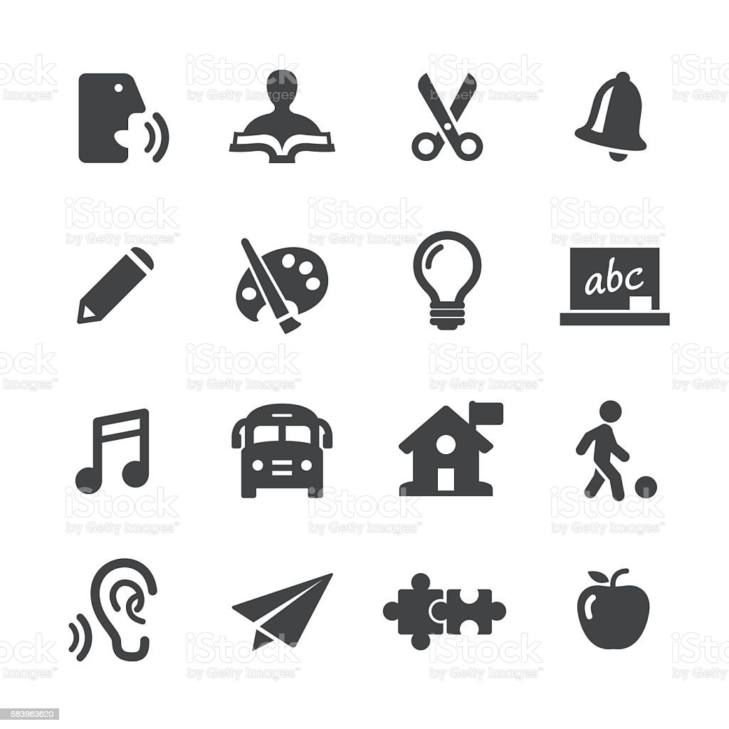 Early Learning Icons - Acme Series vector art illustration
