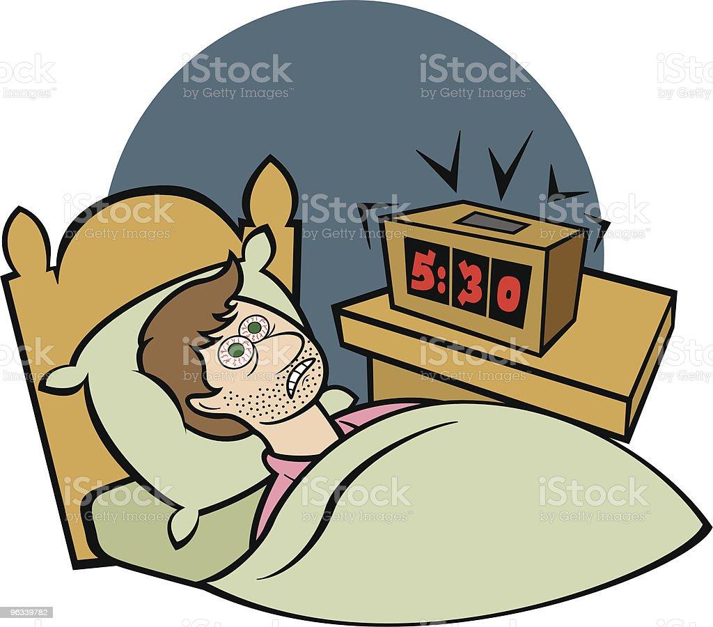 Early Wake Up Call - Vector royalty-free stock vector art