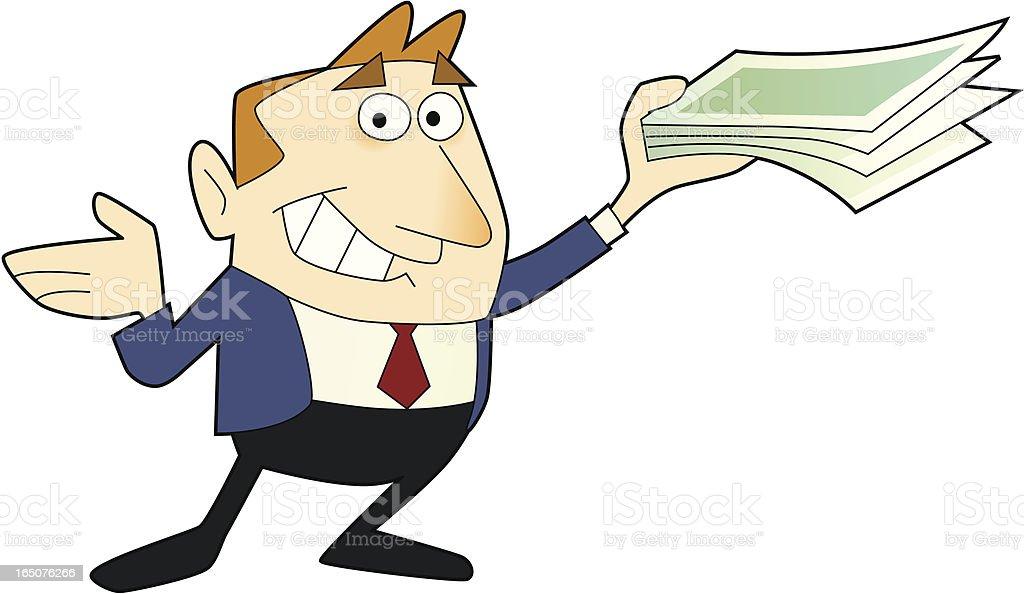 earn money royalty-free stock vector art