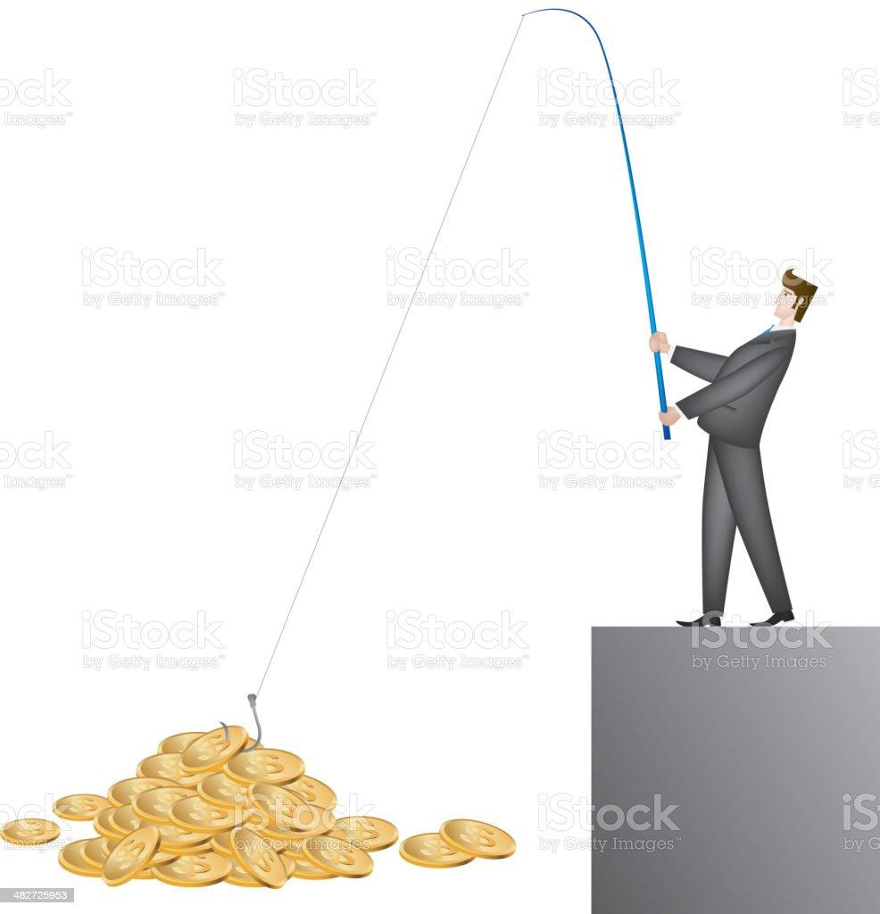 Earning money royalty-free stock vector art