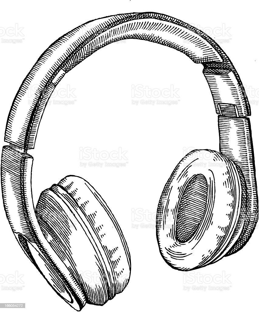 Earphones royalty-free stock vector art