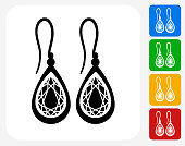 Earrings Icon Flat Graphic Design
