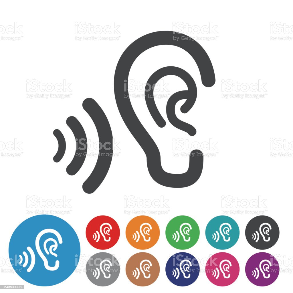 Ears Icons - Graphic Icon Series royalty-free stock vector art
