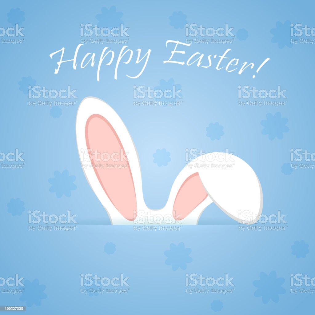 Ears of a rabbit royalty-free stock vector art