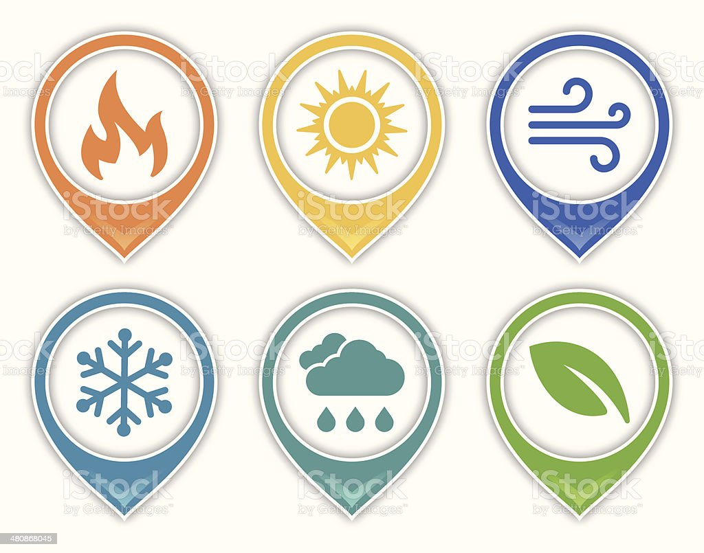 Earth and Environment Symbols vector art illustration
