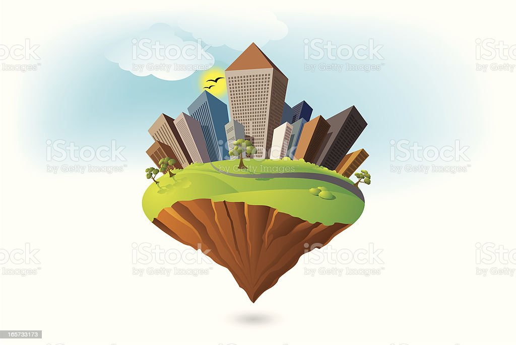 Earth Background vector art illustration