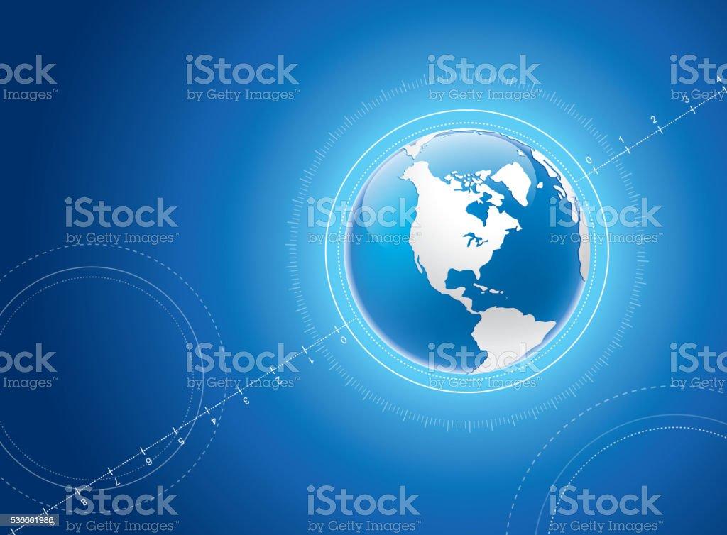 Earth background vector art illustration