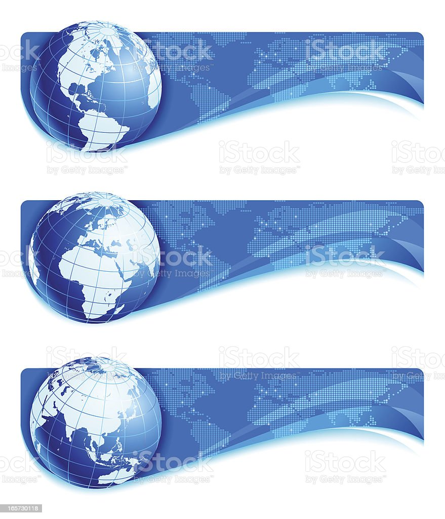 Earth banners royalty-free stock vector art