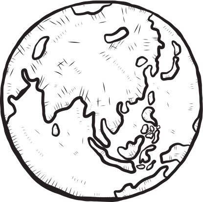 planet earth clipart black and white - photo #23