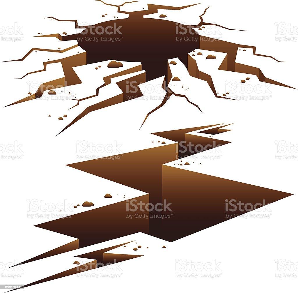 Earth Cracks vector art illustration