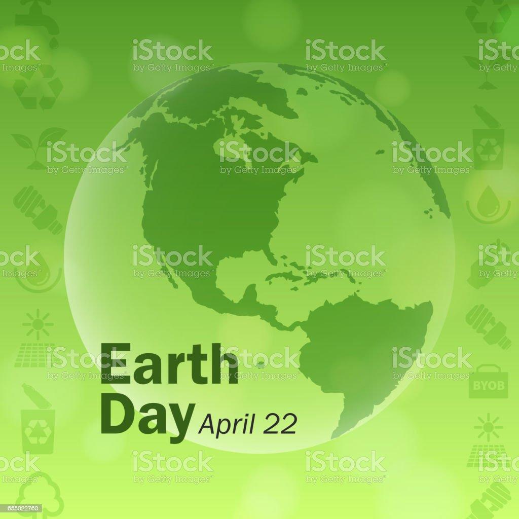 Earth Day Elements vector art illustration