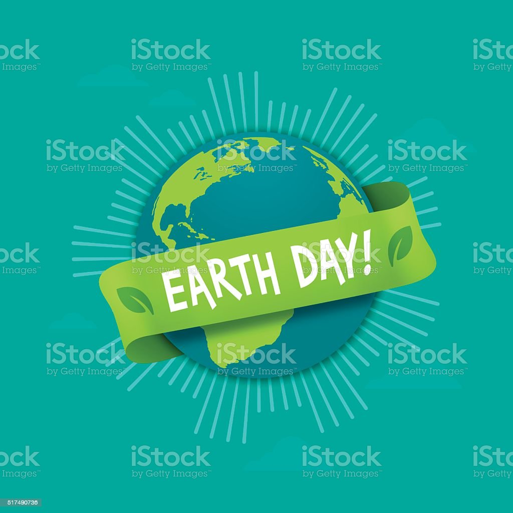 Earth Day Globe vector art illustration
