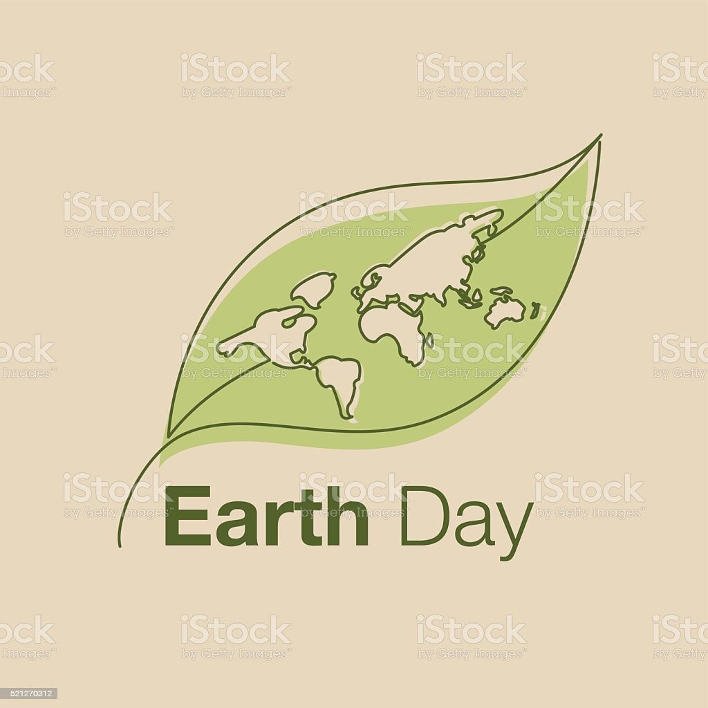 earth day, line art style, icon, vector vector art illustration