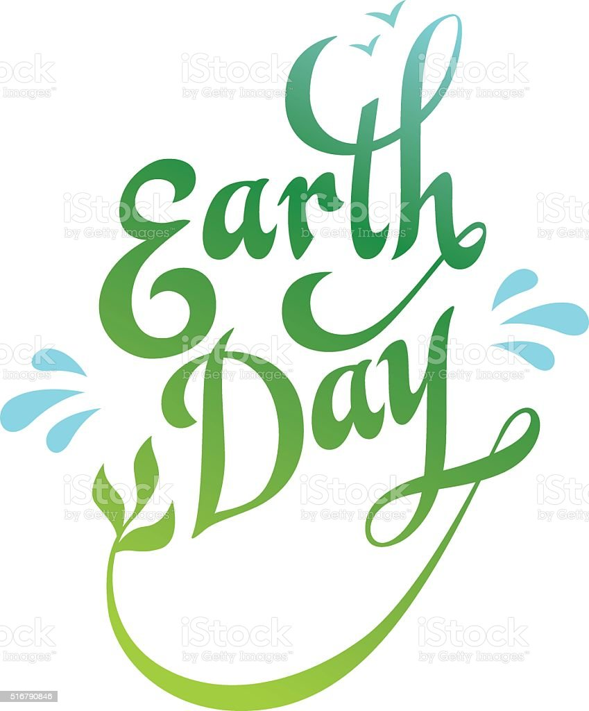 Earth Day Logo vector art illustration