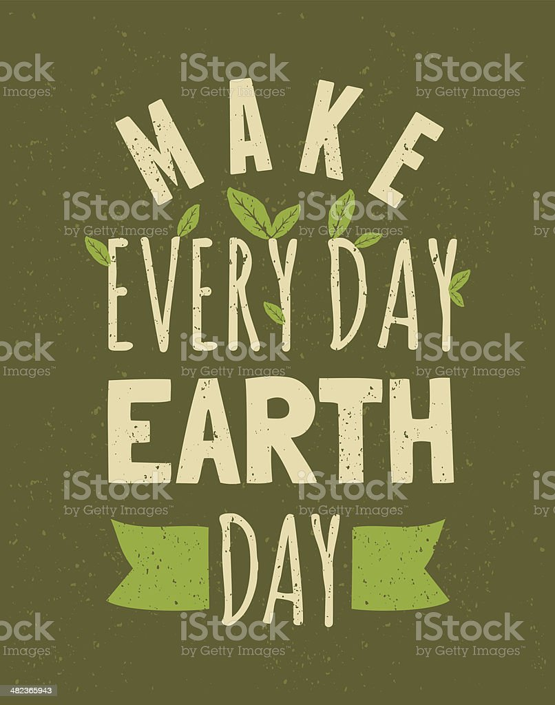 Earth Day Poster vector art illustration