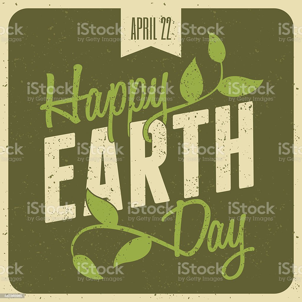 Earth Day Poster vector art illustration