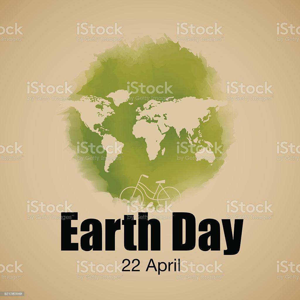 earth day typography, vector Illustration vector art illustration