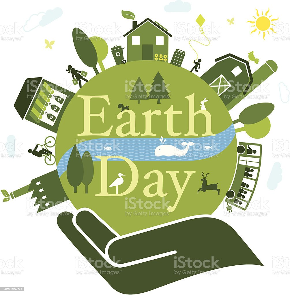 Earth Day royalty-free stock vector art