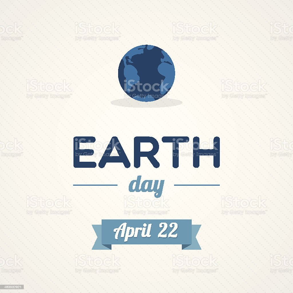 Earth Day vector art illustration