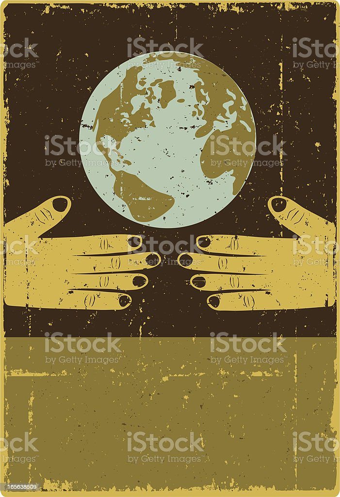 Earth Embrace Poster royalty-free stock vector art