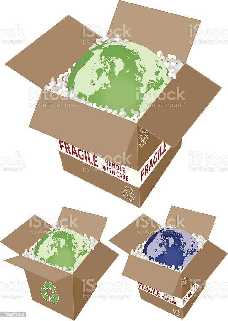 Earth - fragile, handle with care. royalty-free stock vector art