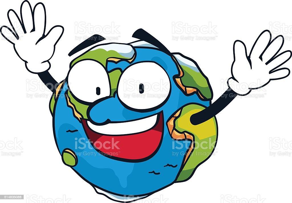 Earth happy royalty-free stock vector art