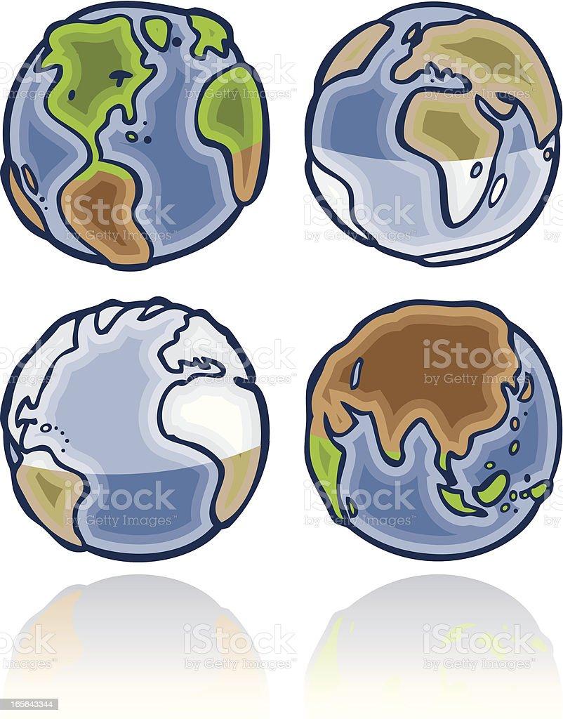 Earth Hemisphere Seasons royalty-free stock vector art