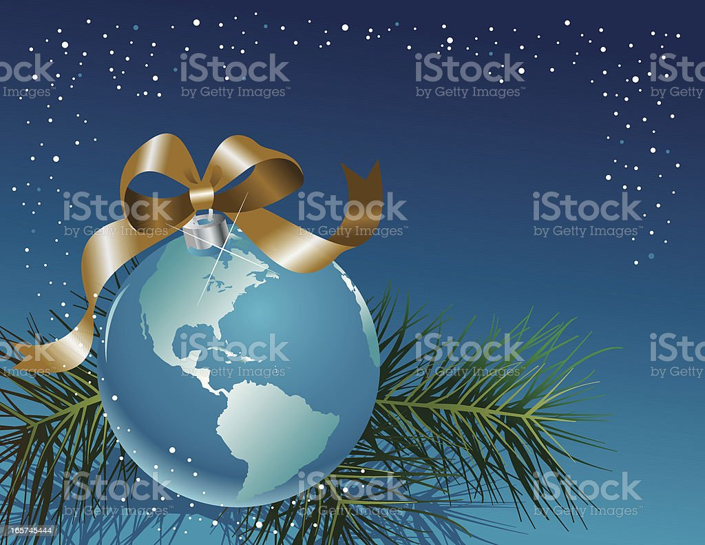 Earth Holiday Ornament vector art illustration