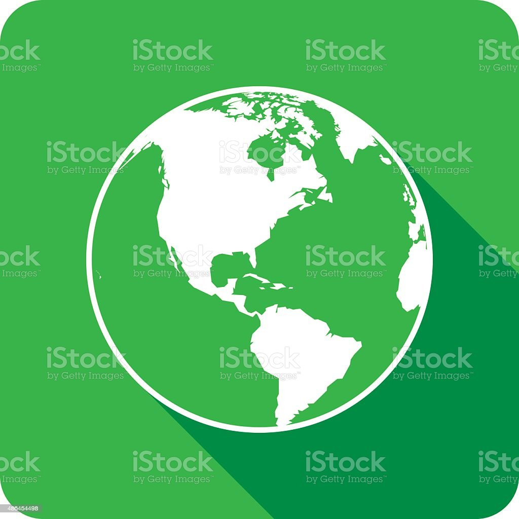 Earth Icon Silhouette vector art illustration