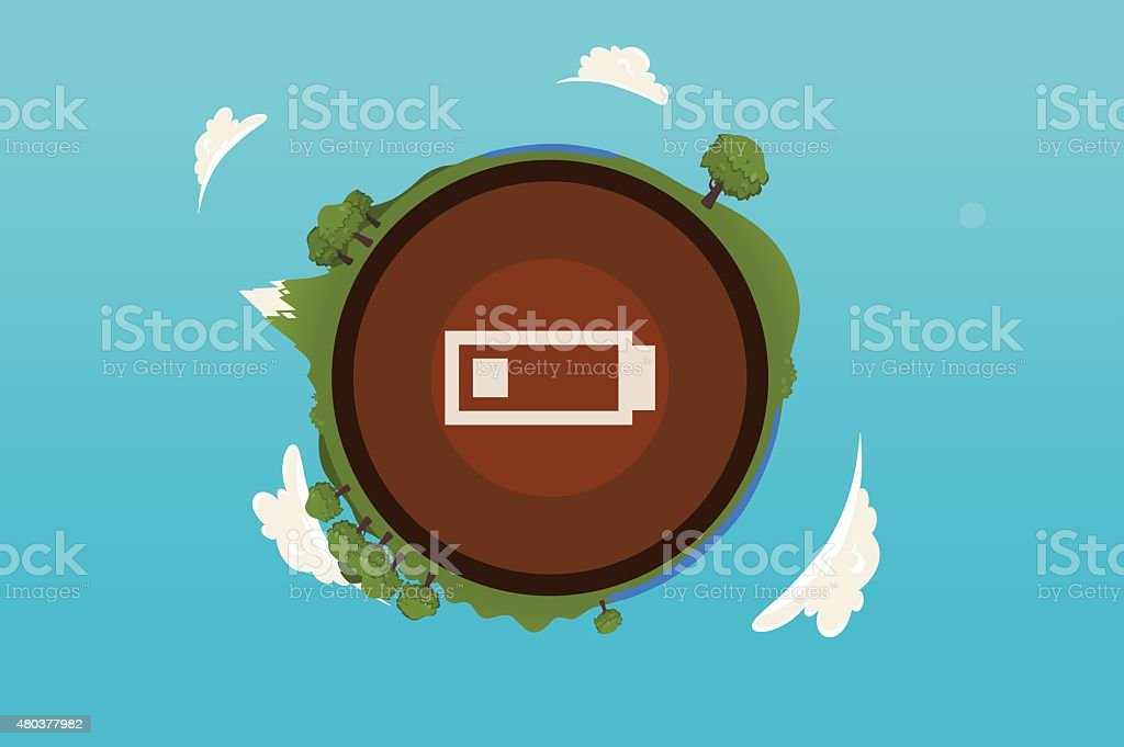 Earth illustration vector art illustration